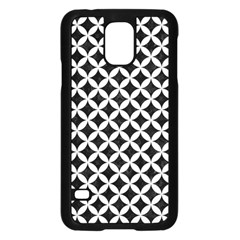 Circles3 Black Marble & White Linen (r) Samsung Galaxy S5 Case (black)