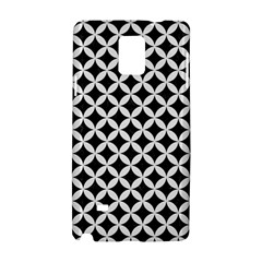 Circles3 Black Marble & White Linen (r) Samsung Galaxy Note 4 Hardshell Case