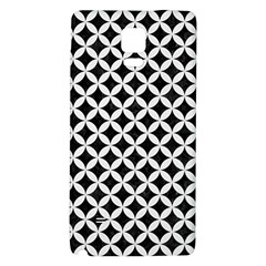 Circles3 Black Marble & White Linen (r) Galaxy Note 4 Back Case
