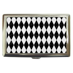 Diamond1 Black Marble & White Linen Cigarette Money Cases