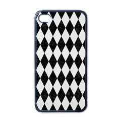Diamond1 Black Marble & White Linen Apple Iphone 4 Case (black)