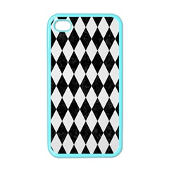 Diamond1 Black Marble & White Linen Apple Iphone 4 Case (color)