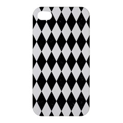 Diamond1 Black Marble & White Linen Apple Iphone 4/4s Hardshell Case