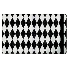Diamond1 Black Marble & White Linen Apple Ipad 3/4 Flip Case