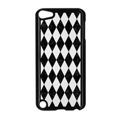 Diamond1 Black Marble & White Linen Apple Ipod Touch 5 Case (black)