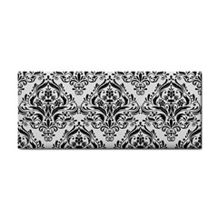 Damask1 Black Marble & White Linen Cosmetic Storage Cases