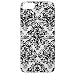 Damask1 Black Marble & White Linen Apple Iphone 5 Classic Hardshell Case