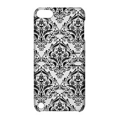 Damask1 Black Marble & White Linen Apple Ipod Touch 5 Hardshell Case With Stand