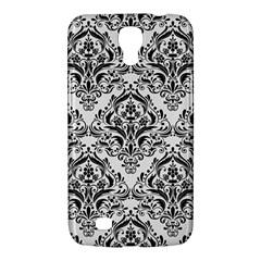 Damask1 Black Marble & White Linen Samsung Galaxy Mega 6 3  I9200 Hardshell Case