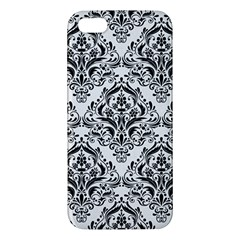 Damask1 Black Marble & White Linen Iphone 5s/ Se Premium Hardshell Case