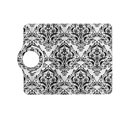 Damask1 Black Marble & White Linen Kindle Fire Hd (2013) Flip 360 Case
