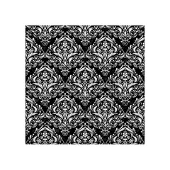 Damask1 Black Marble & White Linen (r) Acrylic Tangram Puzzle (4  X 4 )
