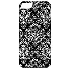 Damask1 Black Marble & White Linen (r) Apple Iphone 5 Classic Hardshell Case