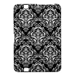 Damask1 Black Marble & White Linen (r) Kindle Fire Hd 8 9