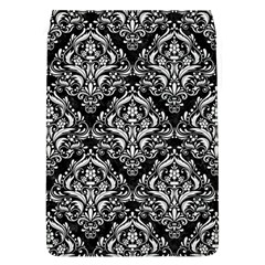 Damask1 Black Marble & White Linen (r) Flap Covers (l)