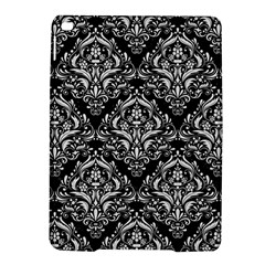 Damask1 Black Marble & White Linen (r) Ipad Air 2 Hardshell Cases