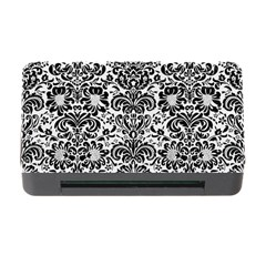 Damask2 Black Marble & White Linen Memory Card Reader With Cf