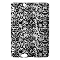 Damask2 Black Marble & White Linen Kindle Fire Hdx Hardshell Case