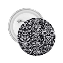 Damask2 Black Marble & White Linen (r) 2 25  Buttons