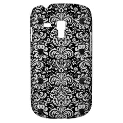 Damask2 Black Marble & White Linen (r) Galaxy S3 Mini
