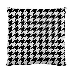 Houndstooth1 Black Marble & White Linen Standard Cushion Case (two Sides)