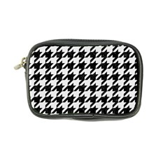 Houndstooth1 Black Marble & White Linen Coin Purse