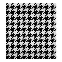 Houndstooth1 Black Marble & White Linen Shower Curtain 66  X 72  (large)
