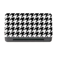 Houndstooth1 Black Marble & White Linen Memory Card Reader With Cf