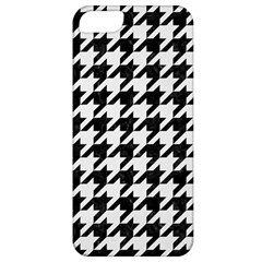 Houndstooth1 Black Marble & White Linen Apple Iphone 5 Classic Hardshell Case
