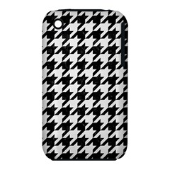 Houndstooth1 Black Marble & White Linen Iphone 3s/3gs