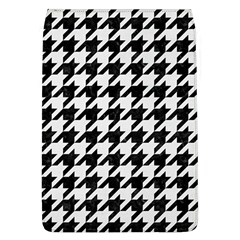Houndstooth1 Black Marble & White Linen Flap Covers (l)
