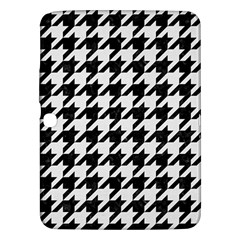 Houndstooth1 Black Marble & White Linen Samsung Galaxy Tab 3 (10 1 ) P5200 Hardshell Case