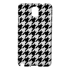 Houndstooth1 Black Marble & White Linen Samsung Galaxy Note 3 N9005 Hardshell Case