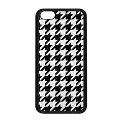 Houndstooth1 Black Marble & White Linen Apple Iphone 5c Seamless Case (black)