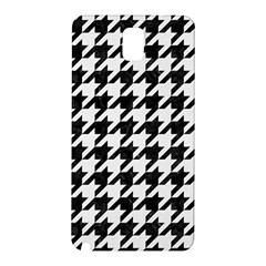 Houndstooth1 Black Marble & White Linen Samsung Galaxy Note 3 N9005 Hardshell Back Case
