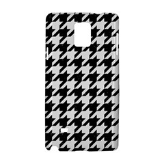 Houndstooth1 Black Marble & White Linen Samsung Galaxy Note 4 Hardshell Case