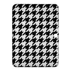 Houndstooth1 Black Marble & White Linen Samsung Galaxy Tab 4 (10 1 ) Hardshell Case