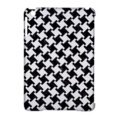 Houndstooth2 Black Marble & White Linen Apple Ipad Mini Hardshell Case (compatible With Smart Cover)