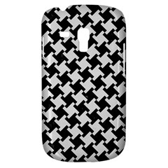 Houndstooth2 Black Marble & White Linen Galaxy S3 Mini