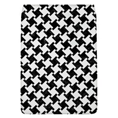 Houndstooth2 Black Marble & White Linen Flap Covers (l)