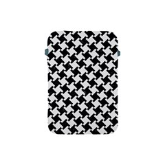 Houndstooth2 Black Marble & White Linen Apple Ipad Mini Protective Soft Cases