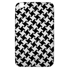 Houndstooth2 Black Marble & White Linen Samsung Galaxy Tab 3 (8 ) T3100 Hardshell Case