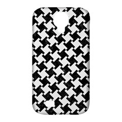 Houndstooth2 Black Marble & White Linen Samsung Galaxy S4 Classic Hardshell Case (pc+silicone)