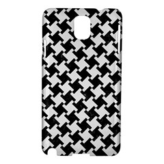 Houndstooth2 Black Marble & White Linen Samsung Galaxy Note 3 N9005 Hardshell Case