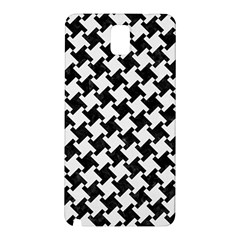 Houndstooth2 Black Marble & White Linen Samsung Galaxy Note 3 N9005 Hardshell Back Case