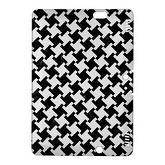 Houndstooth2 Black Marble & White Linen Kindle Fire Hdx 8 9  Hardshell Case