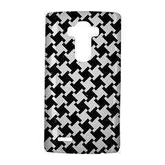 Houndstooth2 Black Marble & White Linen Lg G4 Hardshell Case