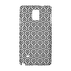 Hexagon1 Black Marble & White Linen Samsung Galaxy Note 4 Hardshell Case