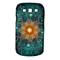 Beautiful Tangerine Orange And Teal Lotus Fractals Samsung Galaxy S Iii Classic Hardshell Case (pc+silicone)