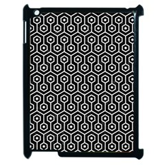 Hexagon1 Black Marble & White Linen (r) Apple Ipad 2 Case (black)